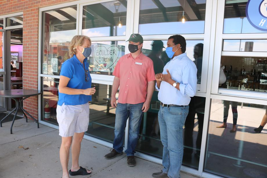Rep. Neguse Visits with Small Business Owners in Boulder