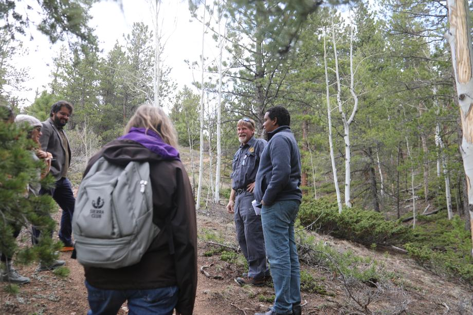 Rep. Neguse Tours Site of Potential Emergency Egress with Nederland Officials