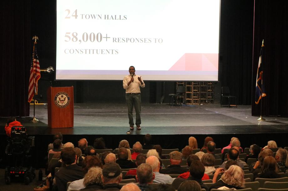 Rep. Neguse Addresses Constituents at Boulder State of the District
